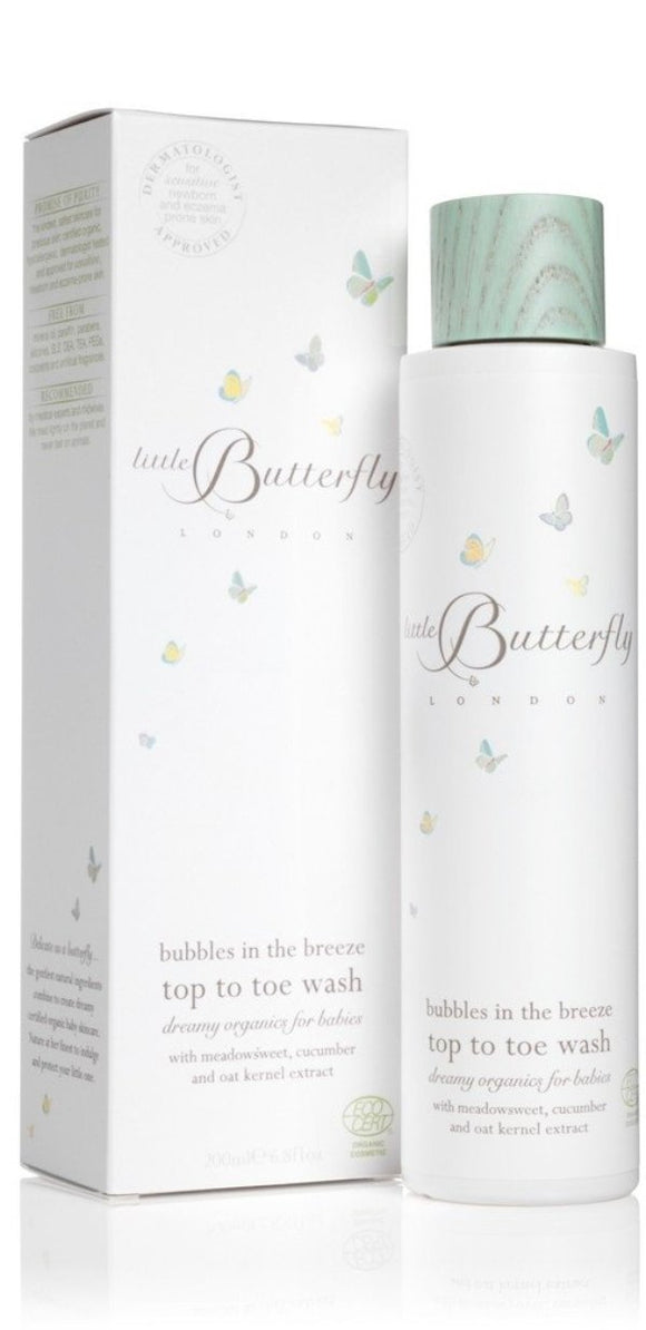 Little Butterfly Bubbles In The Breeze Top To Toe Wash