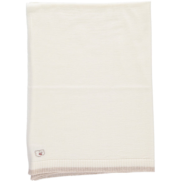 Merino White & Oatmeal Lightweight Blanket