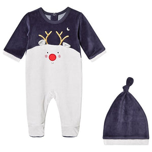 Reindeer Sleepsuit Set - Navy