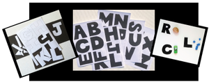 Cut-out Letters and 10 Guided Literacy Activities