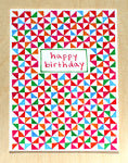 Five Patch Design Hand Illustrated Small Pinwheels Happy Birthday Greeting Card