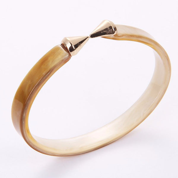 Jewelry 18k Plated Rivet Acrylic Bangles