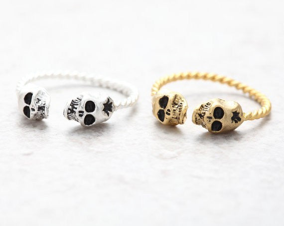 Tiny Skulls Ring Unique Funky Rings