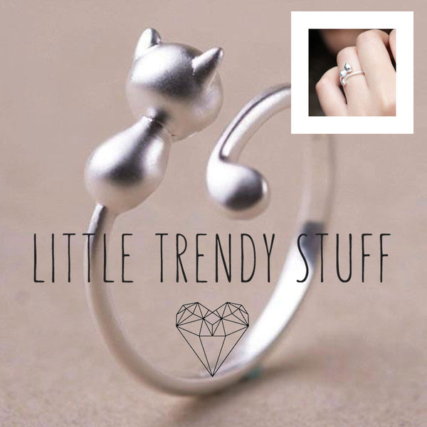 High Quality 925 Sterling Silver Cat Ring