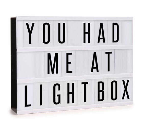 LED Cinema Light box SIZE A5