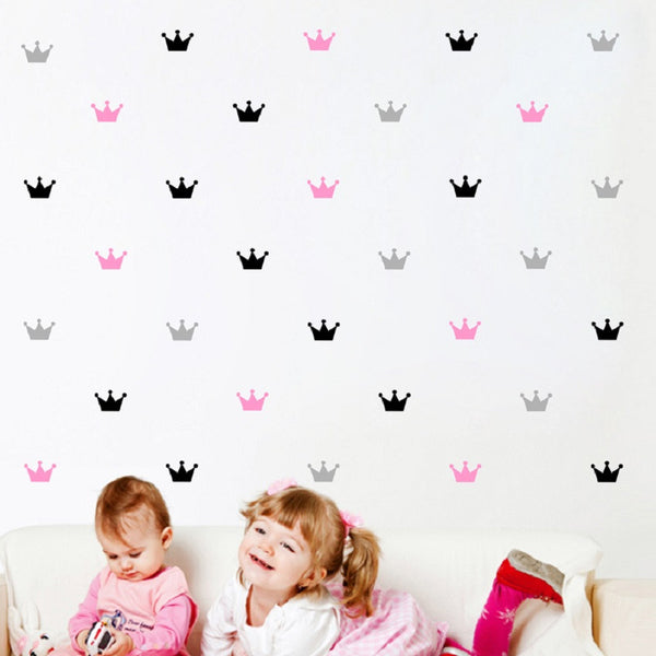 Crown pattern wall sticker Princess kids room decor