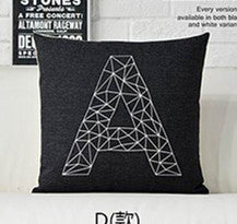 Pattern black and white pillows