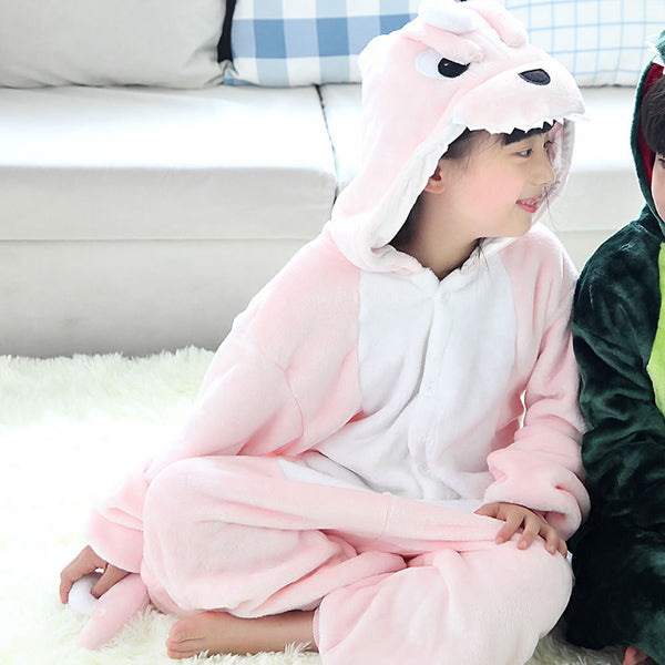 Winter Children Flannel Animal Pyjamas