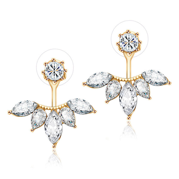 Clear Crystal Rhinestone Earrings