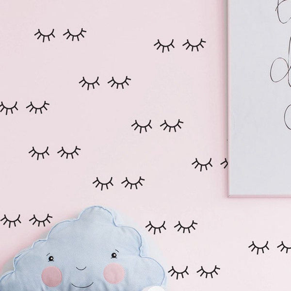 Cute eyelash pattern Wall Stickers For Kids Room