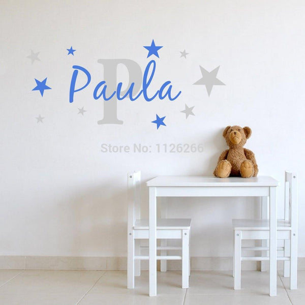 Name with Stars Kids Removable Wall Sticker