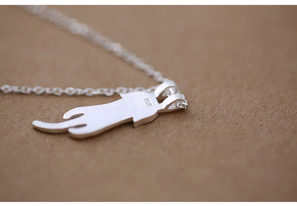 Cute Kitty Cat Necklaces & Pendants 925 Sterling Silver