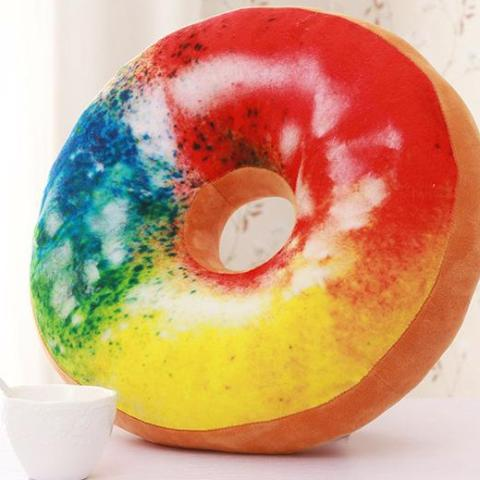 Donut throw pillows