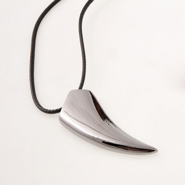 Stainless Steel Wolf Tooth Pendant