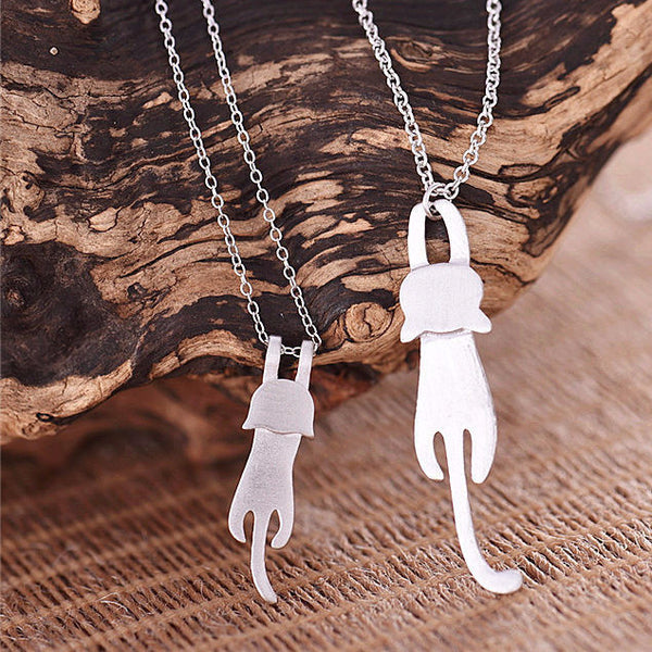 925 Sterling Silver Necklaces Cute Cat