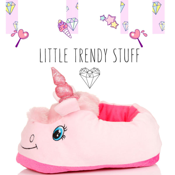 Pink Soft Unicorn Slippers