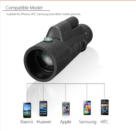 Universal 35x50 Zoom HD Optical Monocular Telescope Phone Lens Observing Survey Camping Telescope With Clip For Smartphones