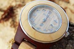 DREAMY WOOD WC0203 Ladies 100% natural cherry & maple wood, water resistant