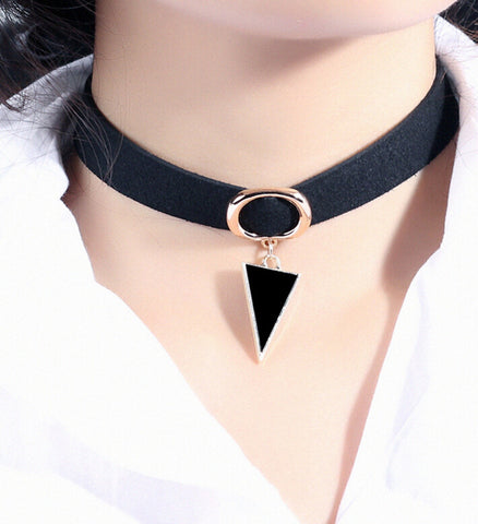 Choker Necklace Stretch Velvet Classic Gothic Tattoo Flannel Choker