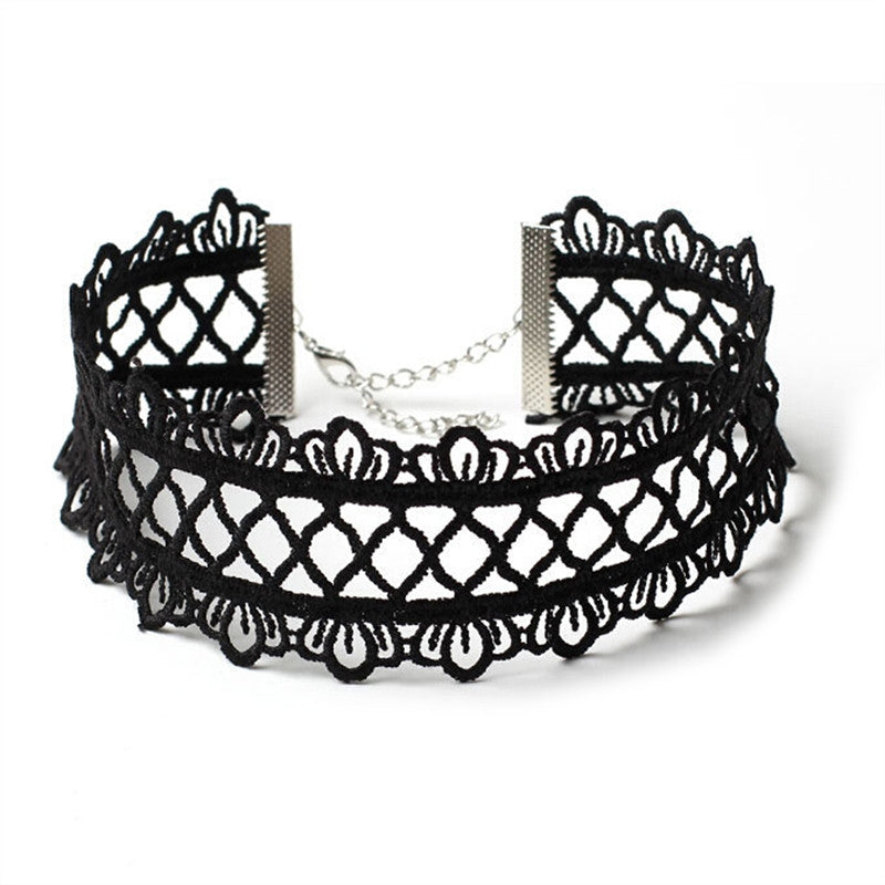 Fashion Lace Tattoo Choker Collar Necklace Chain