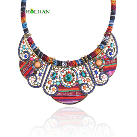 New women bohemia necklace&pendants multicolor choker necklace antique tribal ethnic boho jewelry mujer bijoux