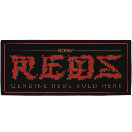 Bones Reds Genuine Parts Sold Here Two-Sided Window Sticker