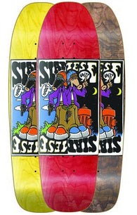 The New Deal Siamese Double Kick Skateboard Deck