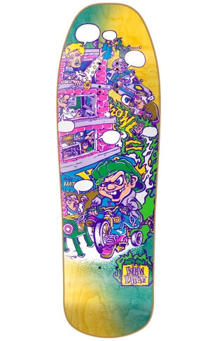 New Deal Andy Howell Tricycle Kid Skateboard Neon Deck