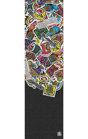 New Deal Sticker Pile Skateboard Grip Tape