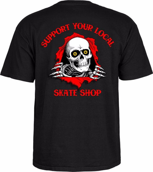 T-shirts Powell Peralta Ripper Support Your Local Skateshop T-Shirt - TheDarkSlide