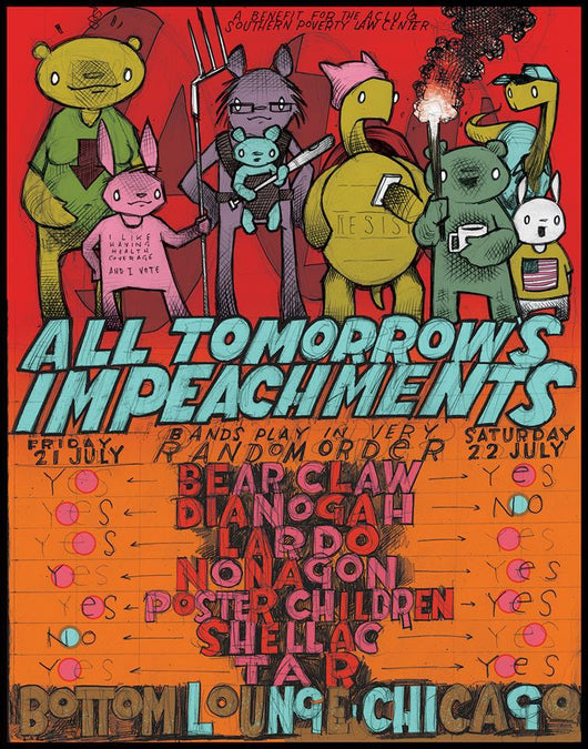 All Tomorrow's Impeachments LTD Poster Hand #'d & Signed by The Bird Machine