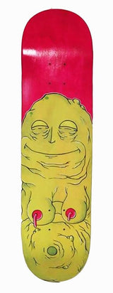 "Katie Wagner ""Jabba The What"" Original Art Skateboard Deck"