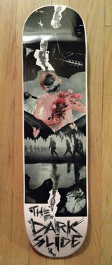 """a pace off the darkest slide"" Original Skateboard Deck Artwork by Math.I"