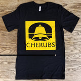 "Cherubs ""The Bell"" T-Shirt with Trance Syndicate back logo"