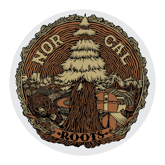 Nor Cal Rooted Sticker