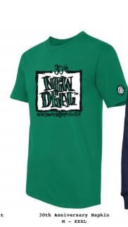 New Deal Skateboards WTF 30th Anniversary Napkin Logo  S/S Green T-Shirt