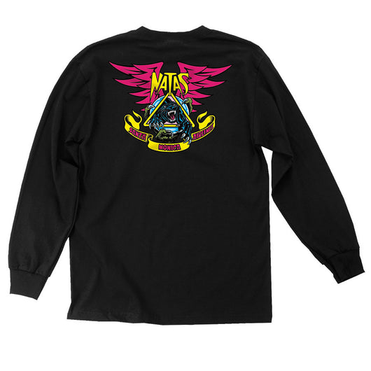 T-shirts Santa Cruz / SMA Natas Panther Long Sleeve Shirt - TheDarkSlide