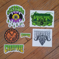Creature Skateboards Sticker Lot #2