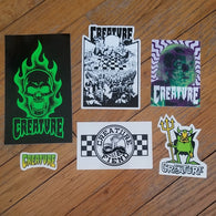 Creature Skateboards Sticker Lot
