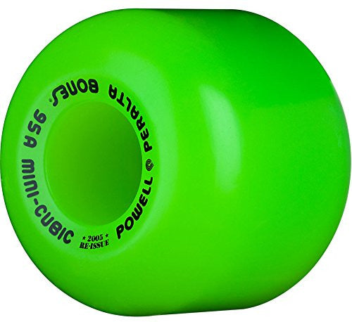 Wheels Powell Peralta Mini Cubic GREEN 64mm 95a Skateboard Wheels - TheDarkSlide