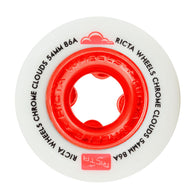 Ricta Chrome Clouds Red 54mm 86a Skateboard Wheels
