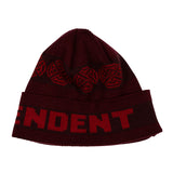 Independent Woven Crosses Fold Over Beanie Long Shoreman hat