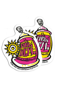 The New Deal Spray Can Sticker *Pre-Order*