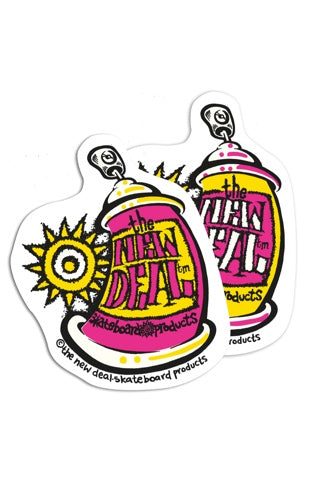 New Deal Spray Can Sticker