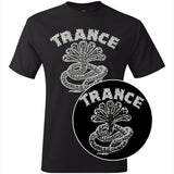 "Trance Syndicate Records ""Logo"" Silver Ink T-Shirt w/ FREE Pin"