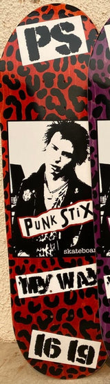 Punk Stix Sid Vicious My Way Egg Skateboard Deck
