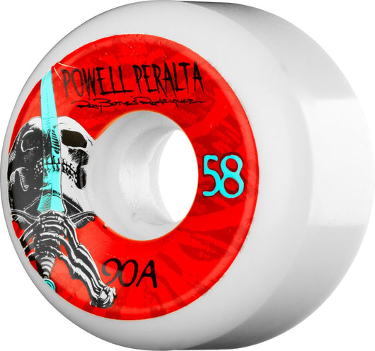 Wheels Powell Peralta Ray Rodriguez Skull and Sword 58mm Skateboard Wheels - TheDarkSlide