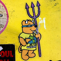 Prime x World Industries Steve Rocco Smoking Bear LTD Hand #'d Sticker