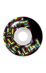 Blind Letter Drop 52mm Black Skateboard Wheels **Pre-Order**