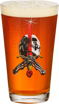 Powell Peralta Skull & Sword Pint Glass